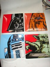 Star Wars lot of 4 lunch plate great graphics set of four 1018