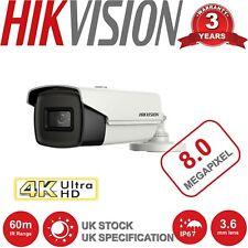 HIKVISION CCTV CAMERA DS-2CE16U1T-IT3F UHD 4K 8MP 3.6MM 60M EXIR NIGHT VISION UK