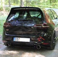 VW Golf 7 Clubsport GTI Heckansatz Heck Diffusor Cup DTM VII Heckschürze Flaps