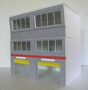 Greenhills Scalextric Slot Car Building 3 Storey Modern Pit Boxes Kit 1:32 Sc...