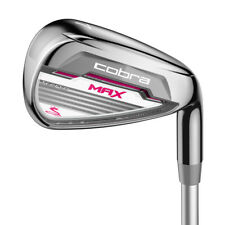Cobra MAX Ladies Irons / Women's Ladies Flex Graphite Shafts 5-SW (7 Irons)