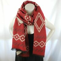 NEW RED Reversible Scarf Shawl Wrap