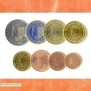 Kursmünzensatz Niederlande 2001 1c-2 Euro•Münze•KMS alle 8 Münzen Satz Eurosatz