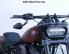"""Spiegel """"Drop"""" schwarz für Harley Davidson Softail Fat Bob FXFB"""