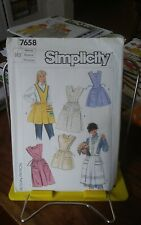 Oop Simplicity 7658 misses retro aprons bibs kitchen craft garden sz 14-16 UNCUT