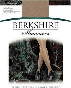 Berkshire Shimmers Ultra Sheer Control Top Gold Pantyhose Size 3