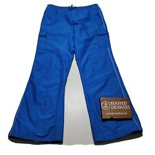 The Children's Place Girls Blue Drawstring Ankle Zip Athletic Track Pants Sz 14