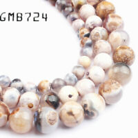 Natural Stone Brown Fire Dragon Veins Agates Stone Round Loose Beads for Jewelry