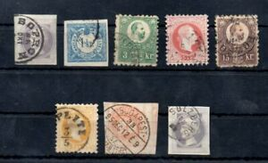 Old classic stamps of Hungary 8 piece  used collection