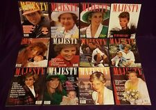 Majesty Magazine Volume 9 Complete 12 issue set from 1988 to 89, British Royal