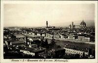 Firenze Florenz Italien Toskana 1933 Panorma dal Piazzale Michelangelo gelaufen