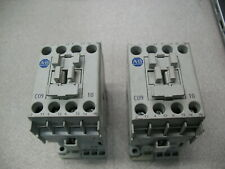 Lot of 2 Allen Bradley 100-C09J10 Contactors With 24 VDC Coils