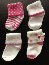 New! Unused Unworn 4 Pairs of Baby Girl Socks