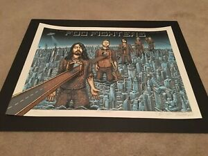 Foo Fighters EMEK Poster Citi Field NYC Signed Numbered & Doodled #90/100
