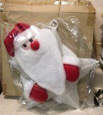 """Lighted Santa Window or Door Hanging Indoor/Outdoor Christmas Decor 12"""" NEW"""