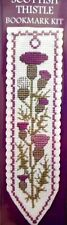 SCOTTISH THISTLE - Cross Stitch BOOKMARK Kit by Textile Heritage, SCOTLAND