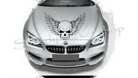 large skull wing tribal car bonnet side vinyl sticker x1 graphic decal wall A137