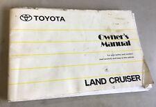 Owners Manual Toyota Landcruiser 1997