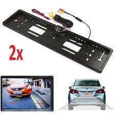 2x Car Rear 170° HD View Reversing Camera Backup Plate Parking Night Vision LEDs