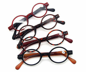 Agstum Small Round Oval Retro Vintage Eyeglasses Reading Glasses CE +1 +2 +3 +4