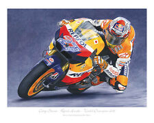 "Casey Stoner MotoGP Repsol Honda Limited Edition Art Print (of 50 only) 20""x16"""