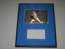 Sandy Koufax Signed Framed Matted Index Card Baseball Hall of Fame LA Dodgers