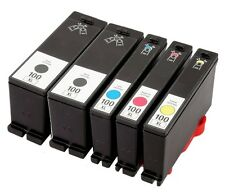 5PK BLACK & COLOR Ink Cartridge for Lexmark 100XL 100 XL