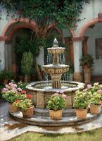 "Art Canvas Print Fountain Courtyard Oil painting Printed on canvas 16""X20"" P101"