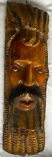 2 MAHOGANY CARVING WOOD WALL SCULPTURE TOURIST RASTAFARIAN JAMAICAN DREADLOCKS
