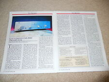 Counterpoint SA-3000 Tube Preamp Review, 2 pg, 1990, Full Test, Specs