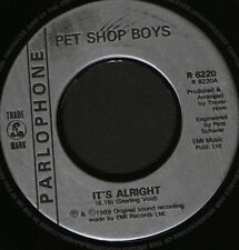 "PET SHOP BOYS it's alright  one of the crowd  your funny 7"" WS EX/ R6220 noc"