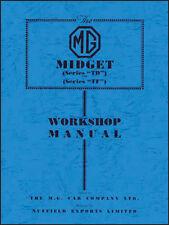 FACTORY WORKSHOP SERVICE OWNERS REPAIR MANUAL BOOK MG MIDGET TD TF 1950-1955