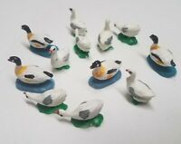 Miniature Tiny Ducks - Small Figurines - Little Hand Painted Figures - 15 Count