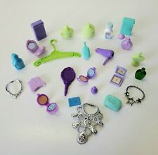 Barbie PURPLE GREEN BATHROOM Jewelry Hairdryer Accessories Clothes Compact Soap