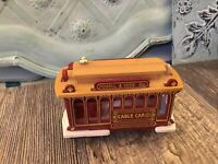 San Francisco Cable Car Powell and Hyde STS Trolley Red Brown Gold 3x 3 3/4""