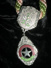 D-016 - Vintage Odd Fellows IOOF P.N.G. Star Lodge Necklace with Rope Fraternal