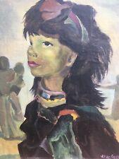 Très Belle Peinture portrait Femme Gitane Début XXe Signé VP De Crayeux Fauvisme