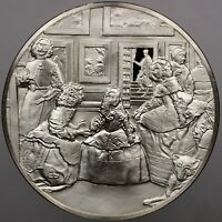 1980 GREAT MASTERPIECES THE MAIDS OF HONOR SILVER CAMEO FRANKLIN MINT (DR)