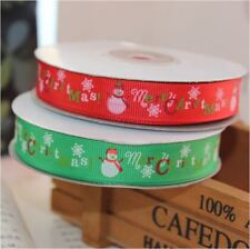 Xmas CHRISTMAS Red and Green 1.6cm Ribbon Decor Gift Present