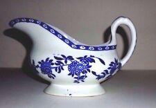 WOOD & SONS 'DELPH' BLUE & WHITE FLORAL / FLOWERS GRAVY BOAT / JUG