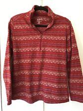 Woolrich Southwest Print Quarter Zip Top, Pullover, Shirt, Petite Medium, ECU