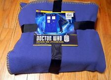 "New DOCTOR WHO Micro Raschel TARDIS Throw BLANKET 50"" x 89"" Officially License"
