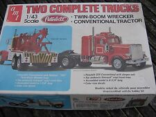 """Two Complete Peterbilt  Trucks""   Amt/Matchbox   1:43"