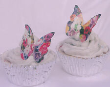 Butterfly Flower Cake Topper 10pc Edible Rice Paper Baby Shower High Tea Lolly