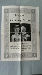Festblatt der Karlsruher Zeitung von 1910-Silberhochzeit Grossherzogspaar