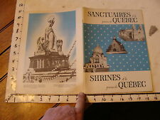 Vintage travel memorabilia: QUEBEC:1960s Shrines of la province de Quebec 24 pgs