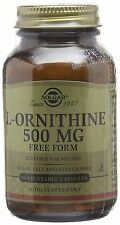 Solgar, L-Ornithine 500 mg Vegetable Capsules , 50