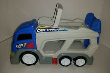 Kids plastic transport car carrier, toy truck, push semi truck with handle