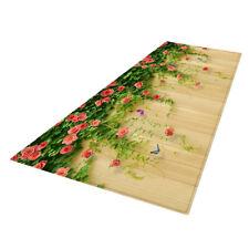 3D Flower Vines Floor Mat Runner Non-skid Area Carpet for Bedroom Bathroom