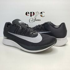 Nike Zoom Fly Running Shoes, Men's Size 12.5 Black White Anthracite [880848-001]